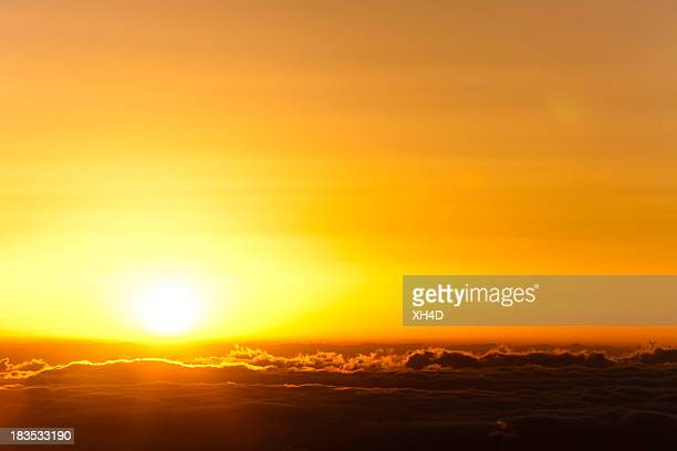 sunrise in sea of clouds