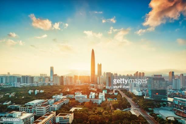 Sunrise in Shenzhen