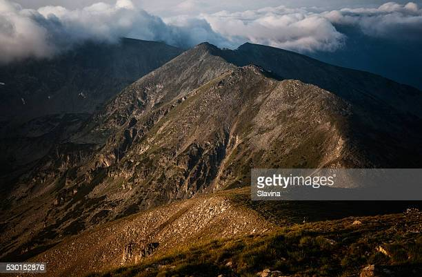 sunrise in the mountains - pirin national park stock pictures, royalty-free photos & images