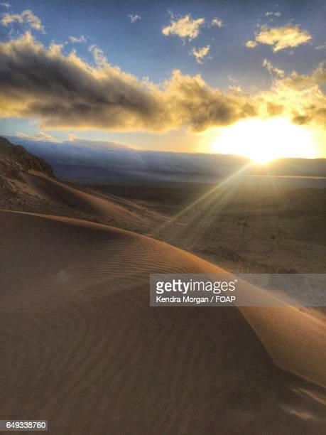 Sunrise in the Sahara desert