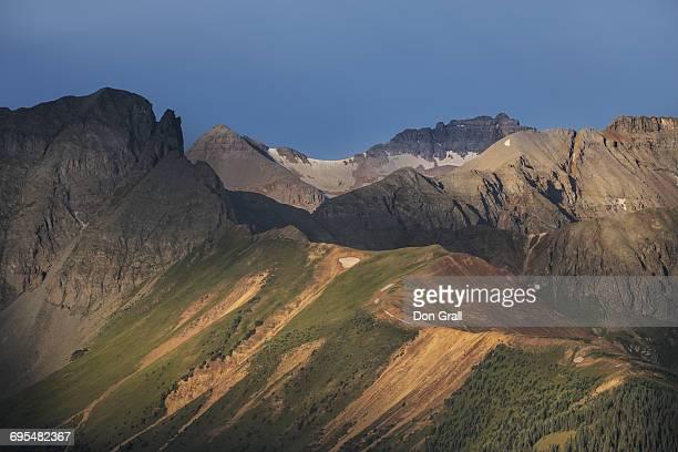 sunrise in the san juan mts of colorado - san juan mountains stock photos and pictures