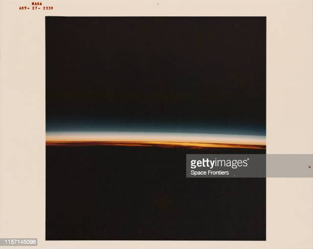 Sunrise in the Southern Hemisphere of the Earth as seen from the Apollo spacecraft during the joint USUSSR ApolloSoyuz Test Project mission 20th July...