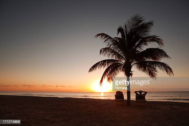 Sunrise in Tropical Paradise Caribbean Beach Vacation