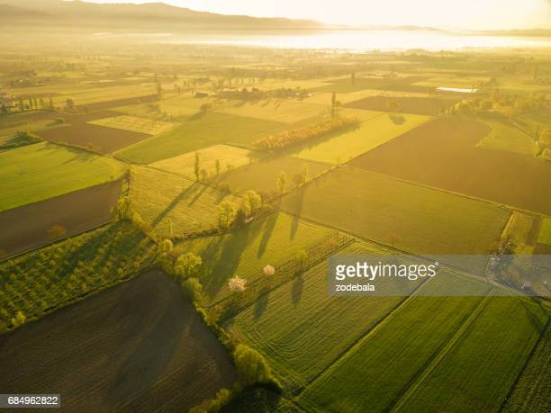 sunrise in tuscany - poland stock pictures, royalty-free photos & images