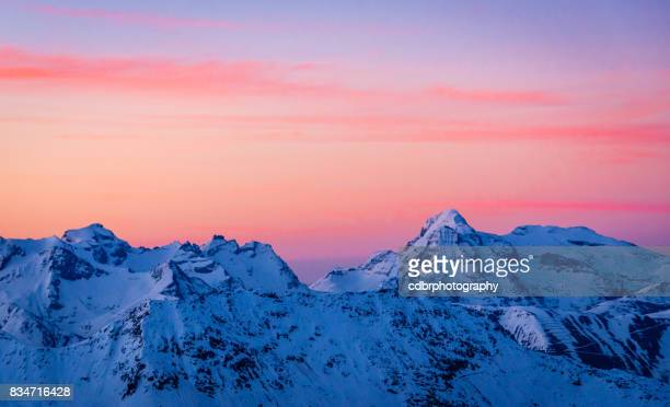 sunrise in valais/ticino - ticino canton stock pictures, royalty-free photos & images