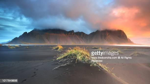 Sunrise in Vesturhorn mountain Iceland