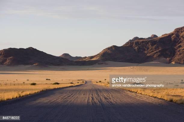 sunrise landscape in namibia. - namibia stock-fotos und bilder