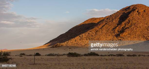 Sunrise landscape in Namibia.
