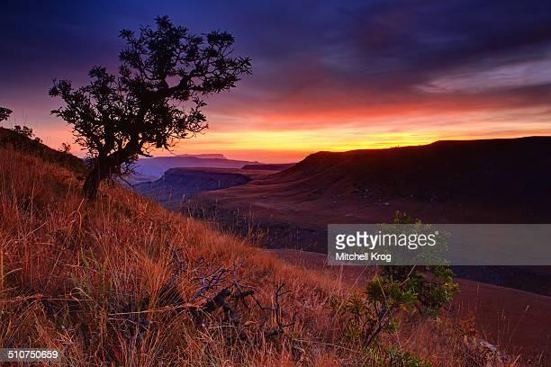Sunrise Landscape of Drakensberg