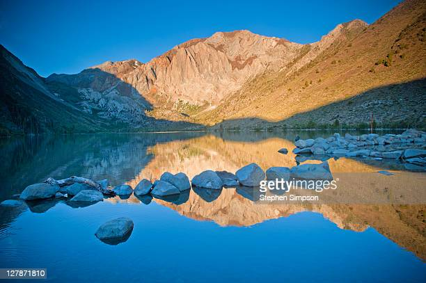 sunrise, laurel mountain and convict lake - images of mammoth stock pictures, royalty-free photos & images