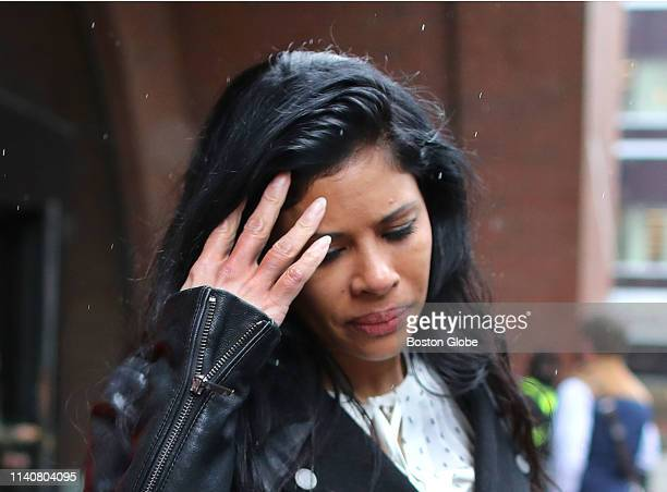 Sunrise Lee leaves the John Joseph Moakley United States Courthouse in Boston following the verdict in the Insys trial on May 2 2019 On the 15th day...