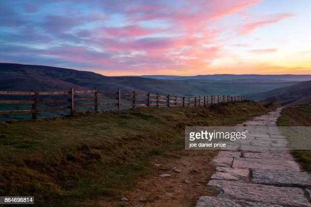 Sunrise, Mam Tor, Castleton, Peak District, Derbyshire, England