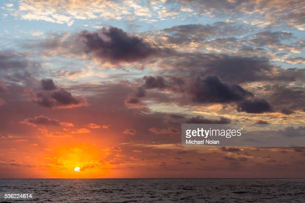 Sunrise near the island of Deserta Grande, Ilhas Desertas, Madeira, Portugal, Atlantic, Europe
