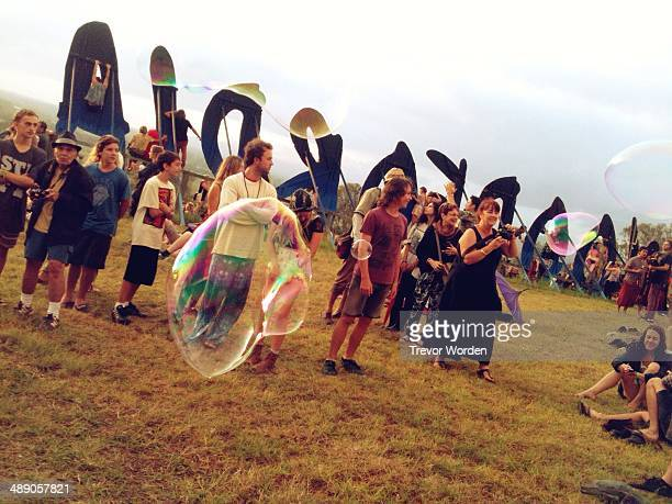 Sunrise New Year's Day 2014 Woodford Folk Festival QLD