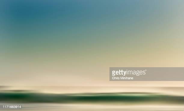 sunrise ocean abstract background - stock image - 空気感 ストックフォトと画像