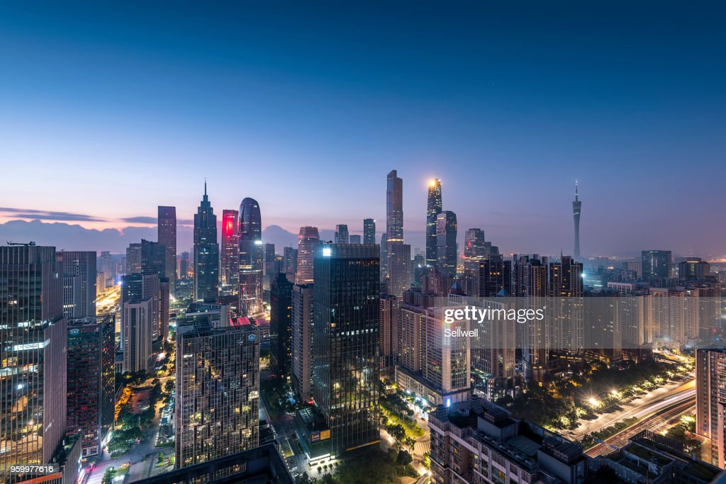 Sunrise of Guangzhou : Stock-Foto