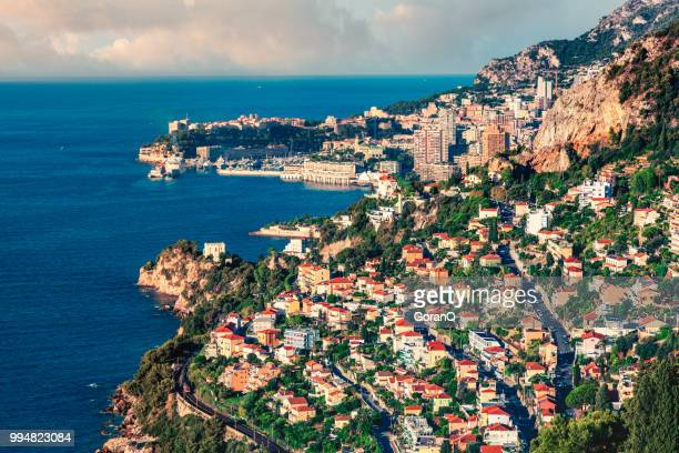 sunrise of monte carlo, monaco - monaco stock pictures, royalty-free photos & images