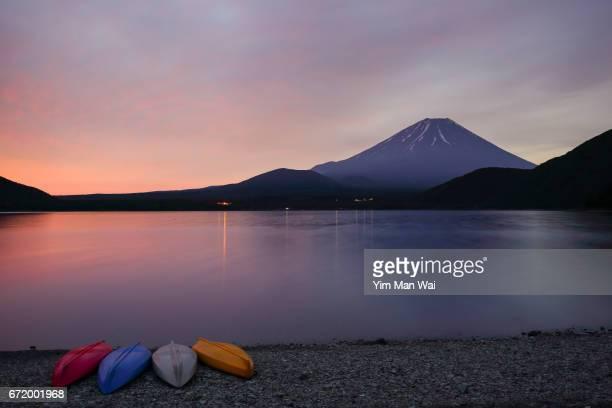 Sunrise of Mount Fuji in Japan