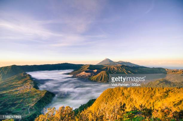 sunrise of mt bromo - tengger stock pictures, royalty-free photos & images