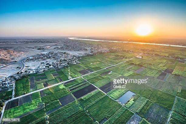 Sunrise of Nile river, Luxor, Egypt