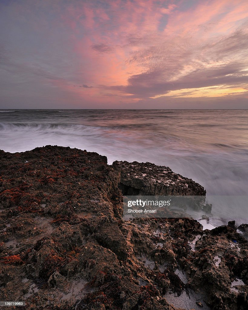 Sunrise on Blowing Rock Preserve : Stock Photo