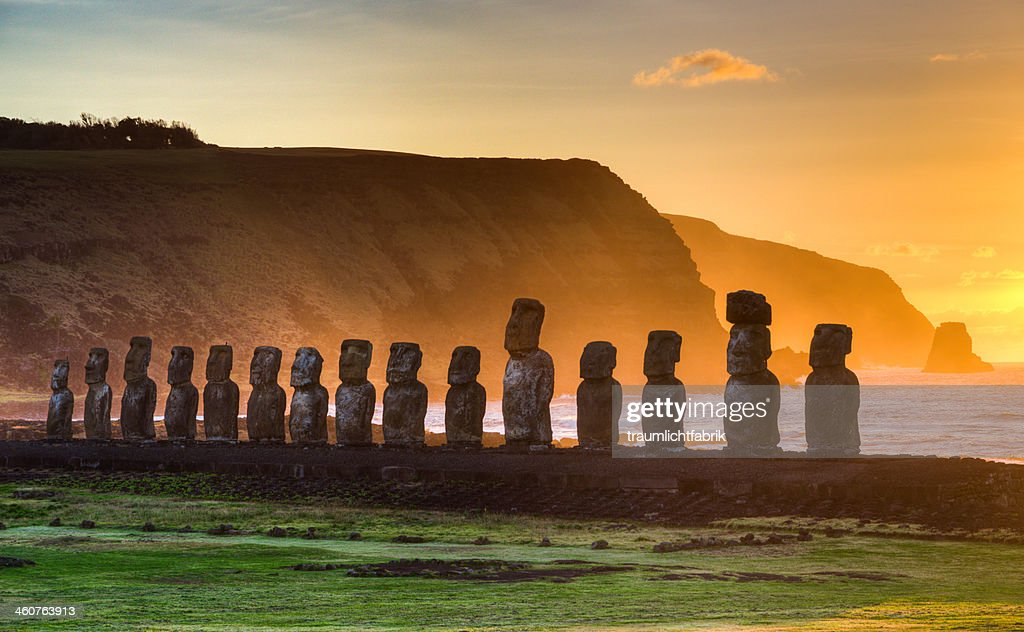 Sunrise on Easter Island : Stock Photo