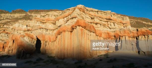 Sunrise on eroded landscape, Red Rock Canyon, California