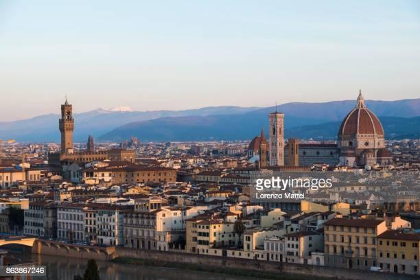 Sunrise on Florence, Tuscany, Italy