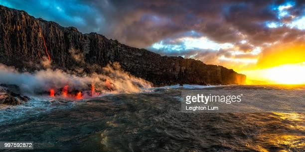 sunrise on kalapana - kalapana stock pictures, royalty-free photos & images
