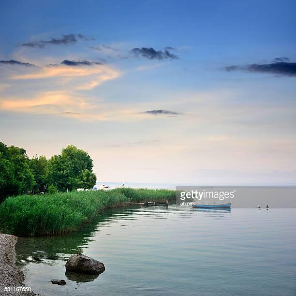 Sonnenaufgang am Gardasee, Italien
