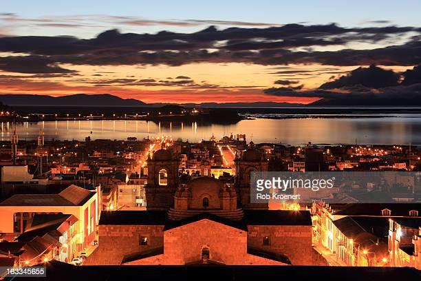 Sunrise on Lake Titicaca and Puno