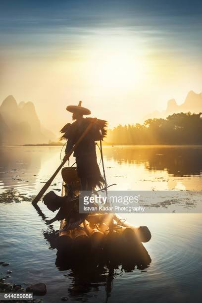 Sunrise on Li River, Yangshuo County, China