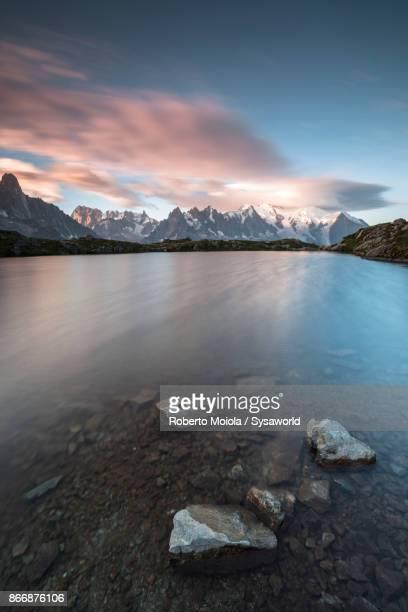 Sunrise on Mont Blanc massif, France