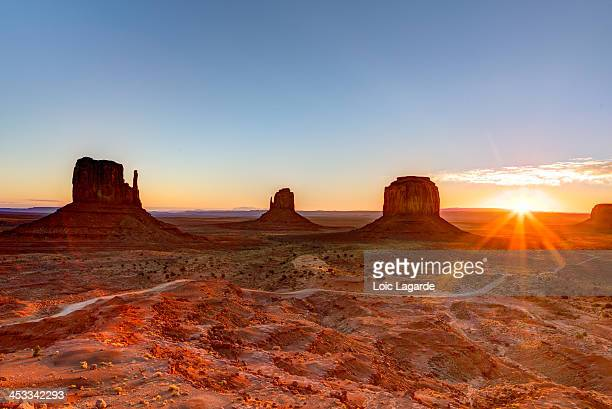 Sunrise on Monument Valley