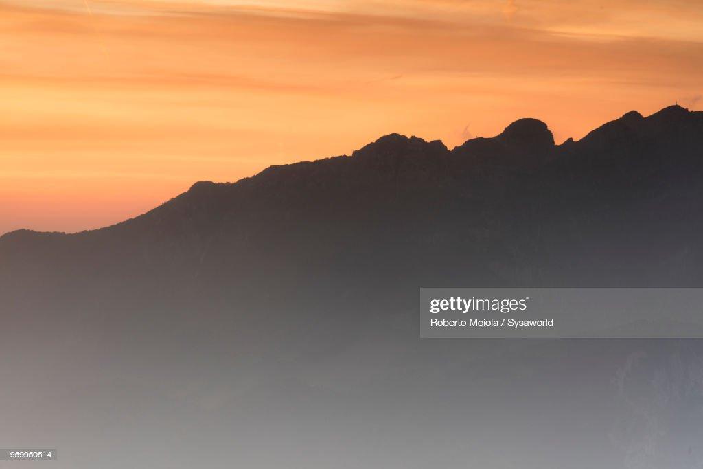 Sunrise on Mount Resegone, Italy : Stock-Foto