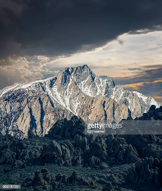sunrise on mt. whitney - lone pine california stock pictures, royalty-free photos & images