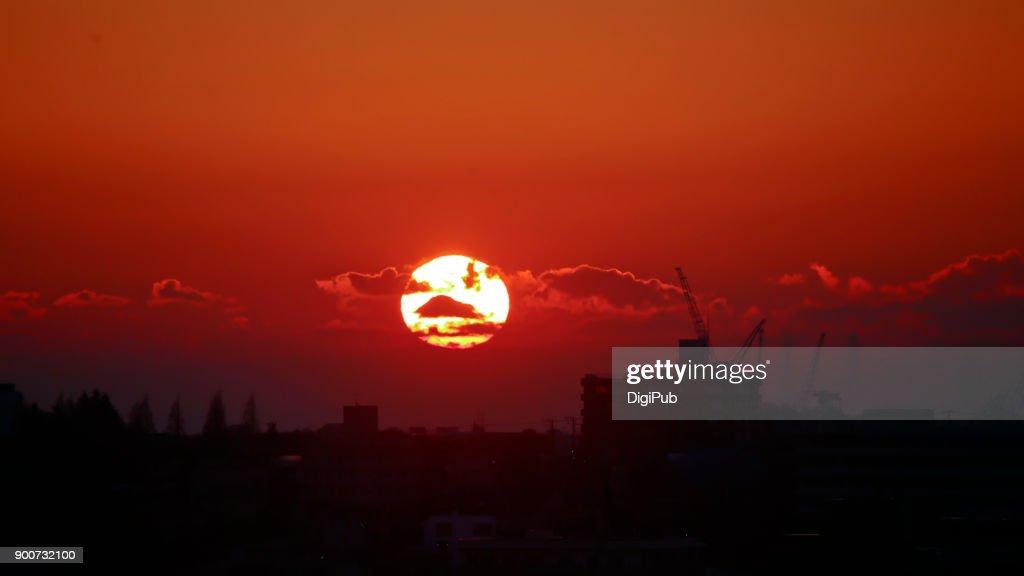 Sunrise on New Year's Day : Stock Photo