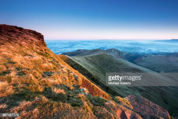 Sunrise on Pen y Fan and the Brecon Beacons, Wales