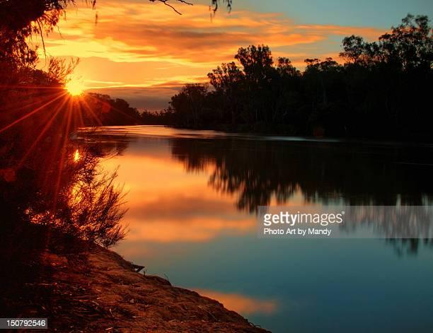 Sunrise on river murray