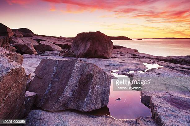 Sunrise on Rocky Coast