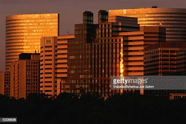 Sunrise on Rosslyn buildings