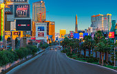 Sunrise on South Las Vegas Blvd Looking North