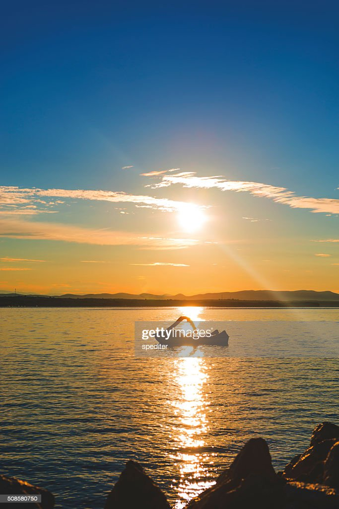Sunrise on the beac : Stock Photo