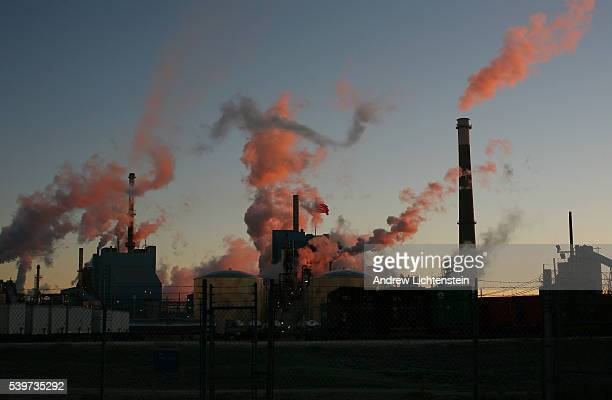 Sunrise on the industrial North Charleston port in South Carolina.The state of South Carolina has promoted its aggressive anti-union politics to...