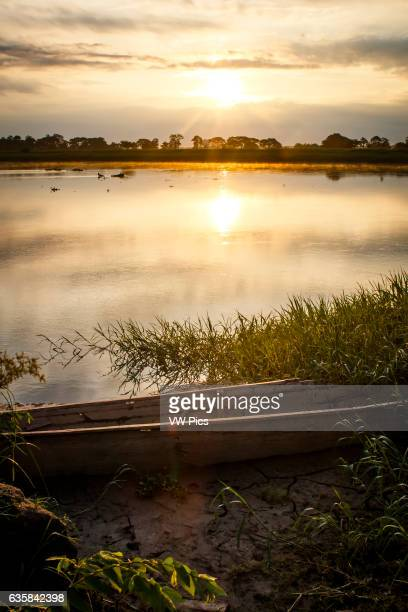 Sunrise on the Magdalena river municipality of Talaigua Nuevo department of Bolivar Colombia