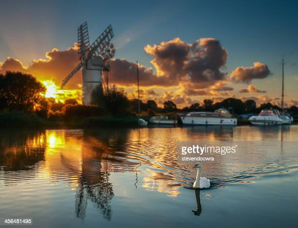 Sunrise on the Norfolk Broads