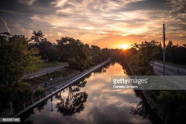 Sunrise on the Rideau Canal in Ottawa