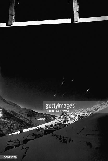 Sunrise on the village of Saint-Veran, 1947 in Saint Veran, France.