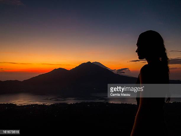 sunrise on top of volcano