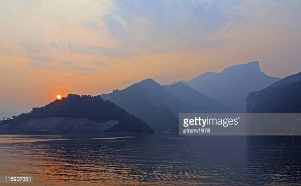 sunrise on Yangtze river